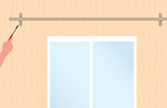 Pose d 39 une barre rideaux 4murs - Poser une barre a rideaux ...