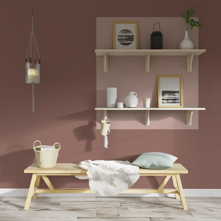 décor avec association de rose quartz et rose blush