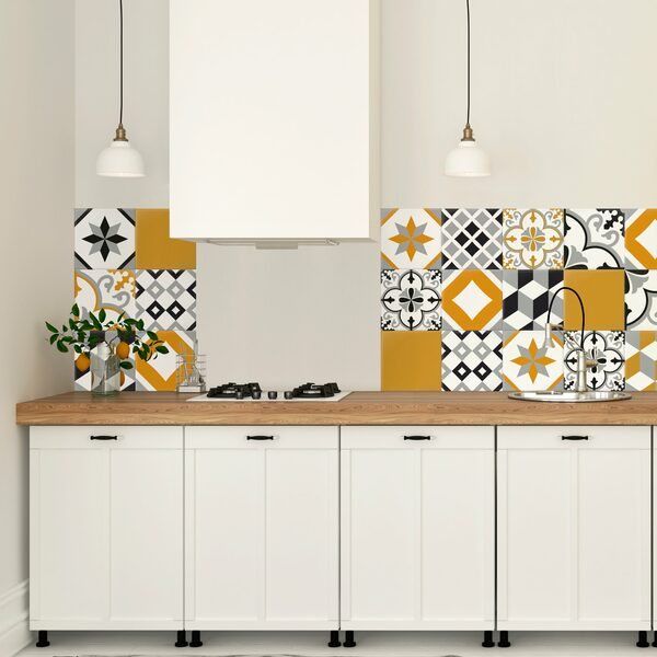 Adhesive tiling, the easy and practical decorating option