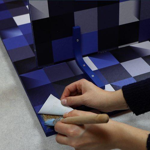 Diy Papier Peint X Etagere Murale Astuce Deco 4murs