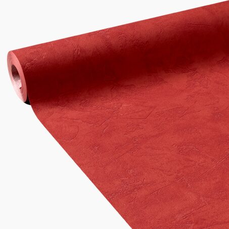 Non-woven wallpaper RAVENNE colour poppy red