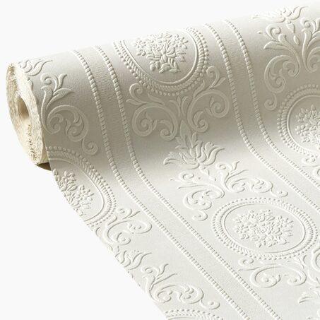 Papier Peint à Peindre VERSAILLES Coloris Blanc