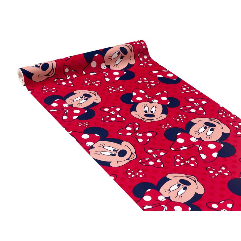 Papier peint HAPPY MINNIE coloris rouge minnie