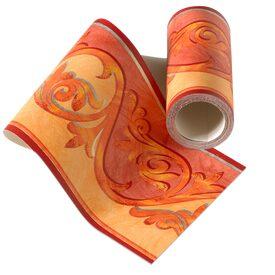 Frise duo coloris rouge grenadine melon frise 4murs - Frise papier peint 4 murs ...