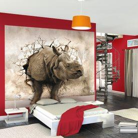 D cor mural num rique xl elephant family 300 x 250 cm for Decor mural xxl 4 murs