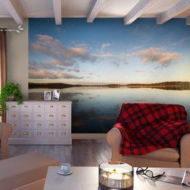 D cor mural num rique xxl on the sea 372 x 260 cm orange for Decor mural xxl 4 murs
