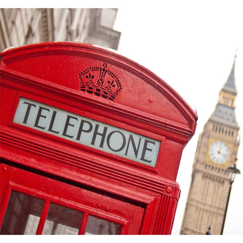Poster extra large LONDON PHONE BOX 300 x 280 cm