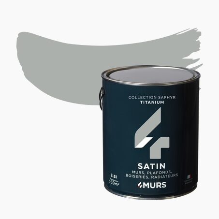 Multi-surface Paint SAPHYR Alkyd titanium Satin 2,5 L