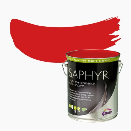 Peinture Multi-supports SAPHYR Alkyde pivoine Brillant 2,5 L