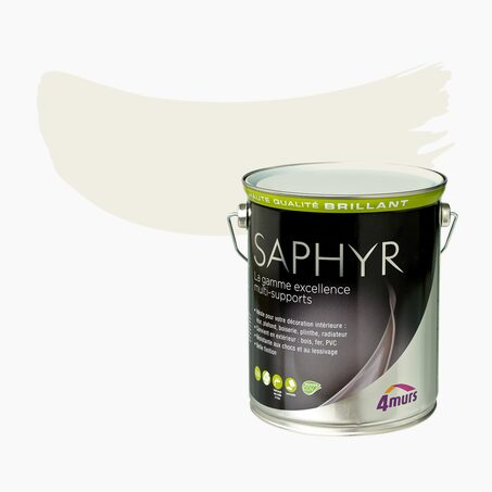 Multi-surface Paint SAPHYR Alkyd pure off white Gloss 2,5 L