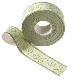galon vinyle volute coloris vert amande frise welldeco. Black Bedroom Furniture Sets. Home Design Ideas
