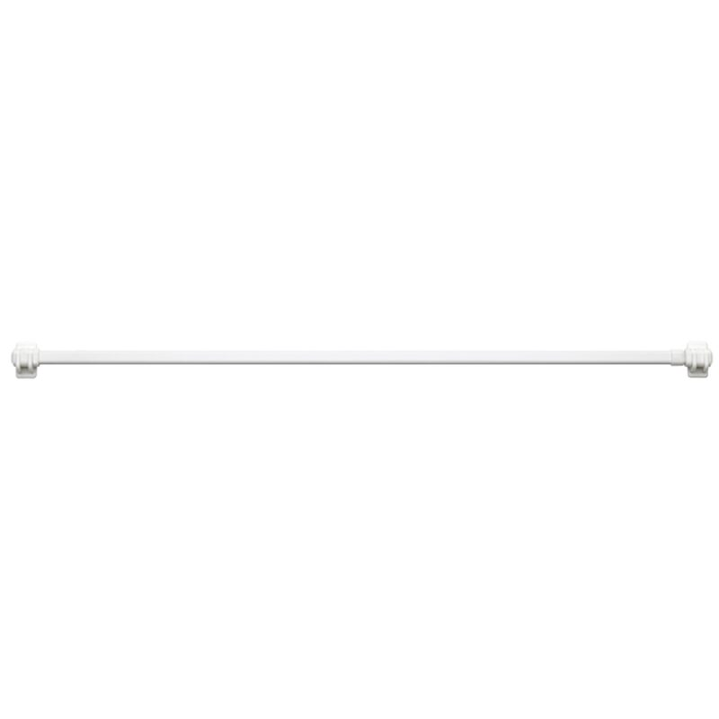Voile panel rod BUSINESS colour white extendable length of  60.0 to 90 cm