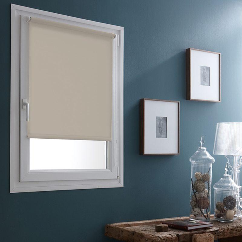 store enrouleur easy roll occultant coloris ivoire 62 x 170 cm