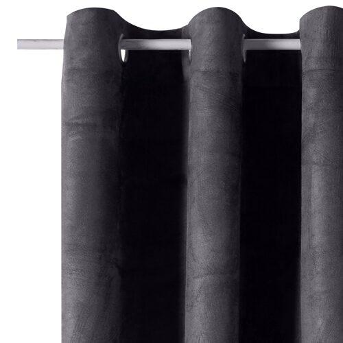 rideau velvet coloris gris anthracite 140 x 260 cm. Black Bedroom Furniture Sets. Home Design Ideas