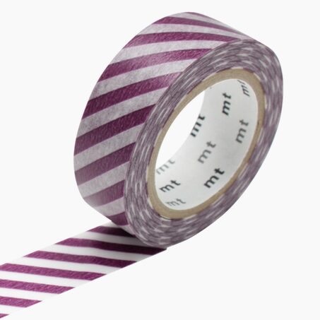 Masking tape RAYURES colour purple