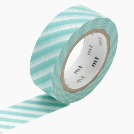 Masking tape RAYURES colour aqua blue