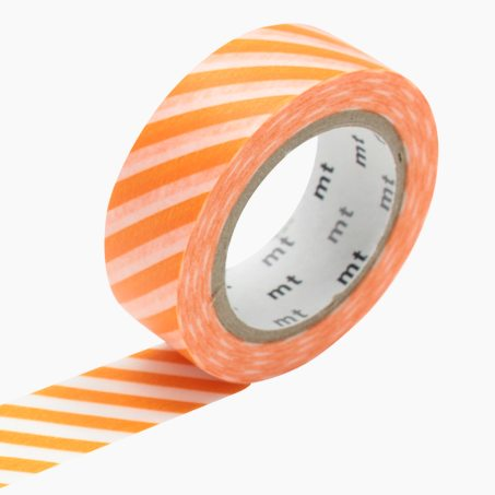 Masking tape RAYURES coloris orange
