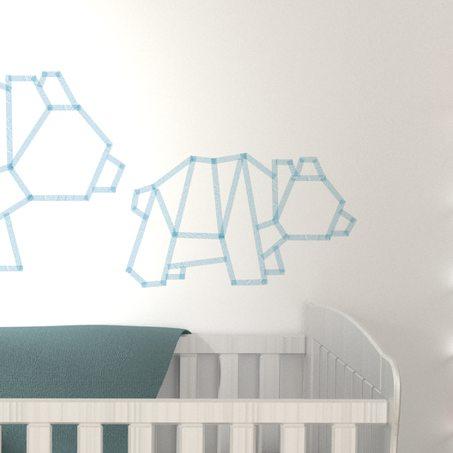 Yabaduu Y043-01 Lot de 4 stickers muraux /à pois 4 couleurs sur 4 feuilles A4 au total 96 autocollants pour chambre denfant Motif pois Bleu