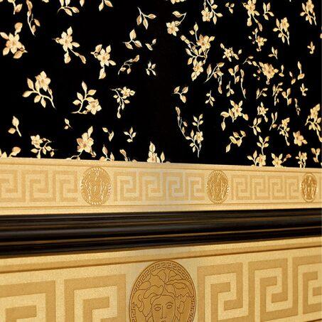 Intisse Versace Greco Coloris Dore Or Mat Papier Peint 4murs