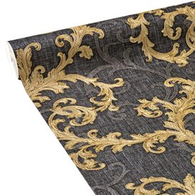 intiss versace baroque roll coloris anthracite or papier peint 4murs. Black Bedroom Furniture Sets. Home Design Ideas