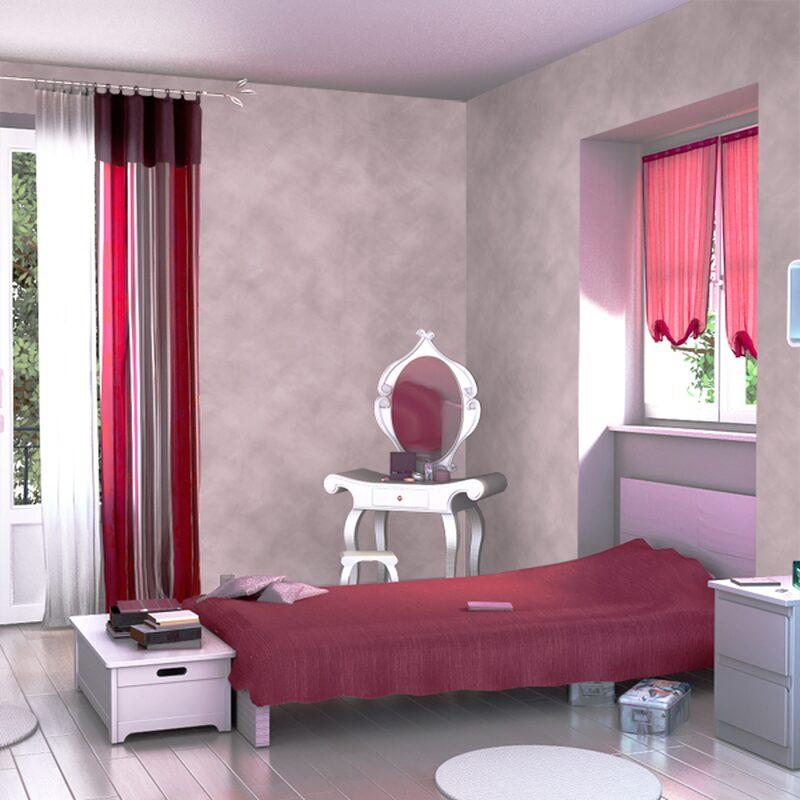 Peinture Decorative Reve De Sable Acrylique Blanc Mat 2 5 L Teinte Rose Poudre Mat 2 5 L Peinture A Effet 4murs