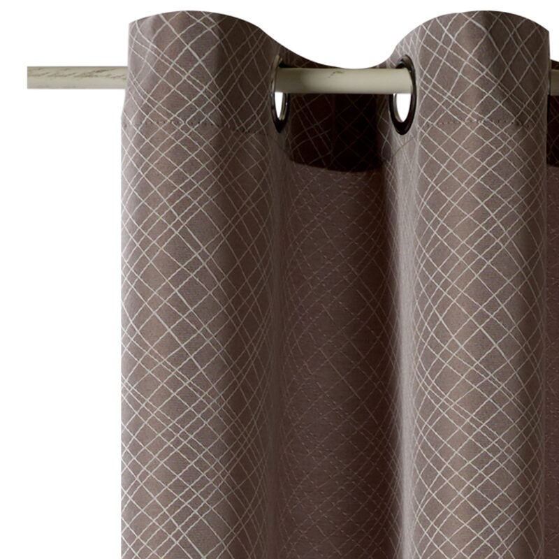 Rideau NEWLOOK coloris taupe 140 x 260 cm