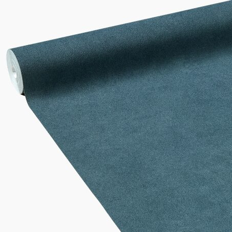 Non-woven wallpaper FINE BÉTON colour petrol blue