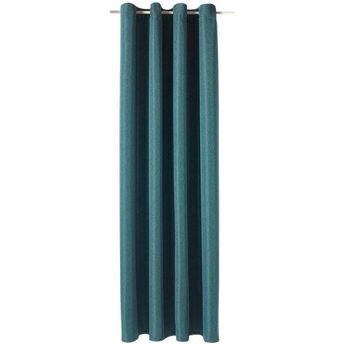 rideau amsterdam coloris bleu paon 140 x 240 cm rideau welldeco. Black Bedroom Furniture Sets. Home Design Ideas