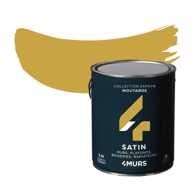 Peinture Multi-supports SAPHYR Alkyde moutarde Satiné 2,5 L