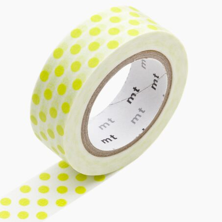 Masking tape DOT MOEGI coloris jaune