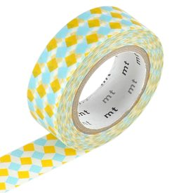 masking tape square coloris jaune bleu masking tape 4murs. Black Bedroom Furniture Sets. Home Design Ideas