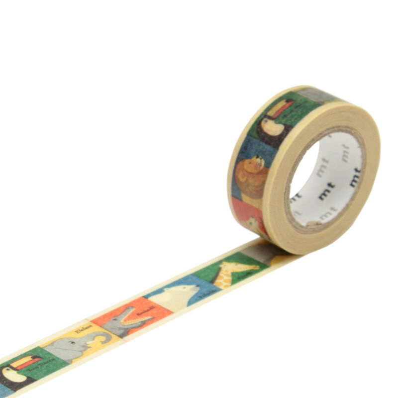 Masking tape ANIMAL coloris multicolore