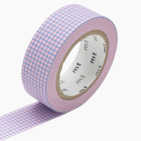 Masking tape HOUGAN BLUE ON SAKURA colour pink