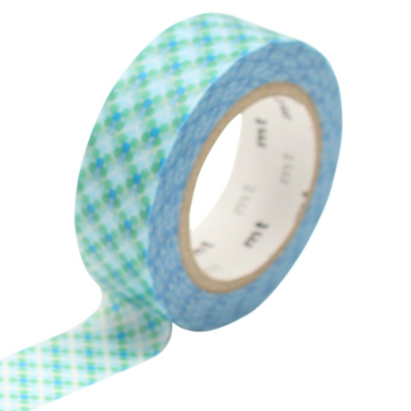 Masking tape OBORO DOT WATER coloris bleu