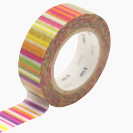 Masking tape MULTI BORDER VIVID coloris multicolore