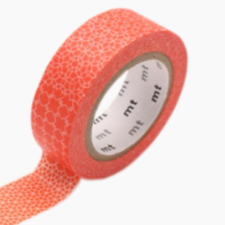 Masking tape LINE PATTERN coloris rouge