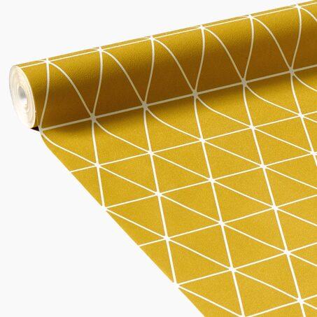 papier peint intiss opal coloris jaune moutarde papier. Black Bedroom Furniture Sets. Home Design Ideas