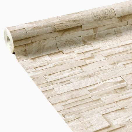 Non-woven wallpaper PAREMENT colour stone-beige