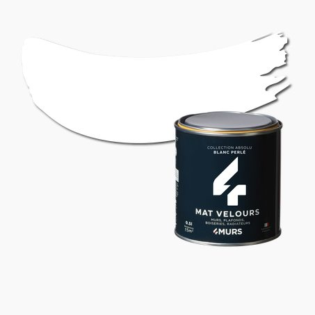 Finishing Paint ABSOLU Acrylic pearl white Matte 0,5 L