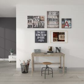 intiss gridline coloris blanc noir papier peint 4murs. Black Bedroom Furniture Sets. Home Design Ideas