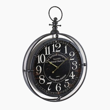 Gusset clock LIAM colour black