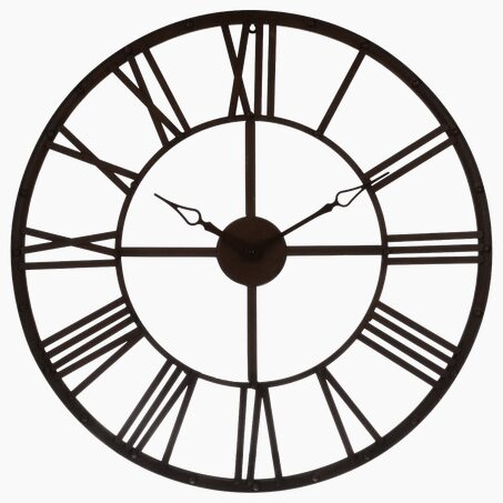 Metal clock GRÉGOIRE colour brown