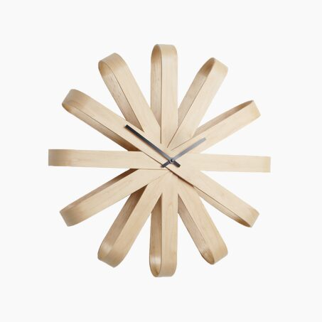 Wooden clock FRAMEWORK colour beech