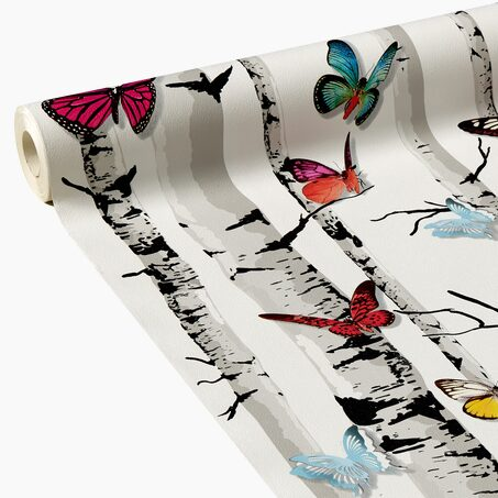 Papier peint MY BUTTERFLY coloris multicolore