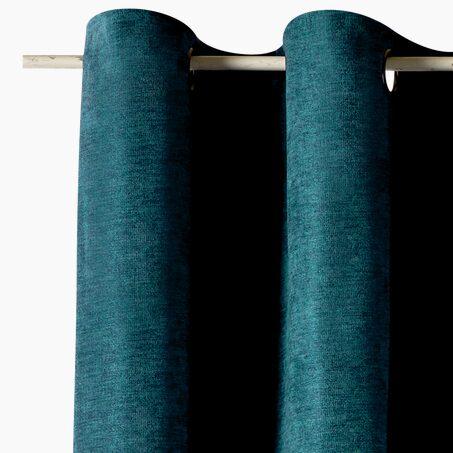 rideau sonia coloris noir 135 x 250 cm vert rideau 4murs. Black Bedroom Furniture Sets. Home Design Ideas