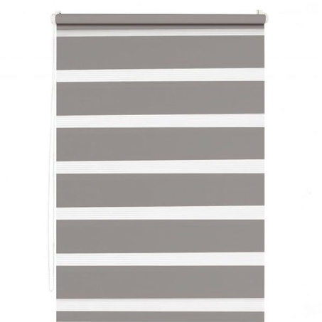 Store jour/nuit EASY ROLL JALOUSY coloris taupe 72 x 190 cm