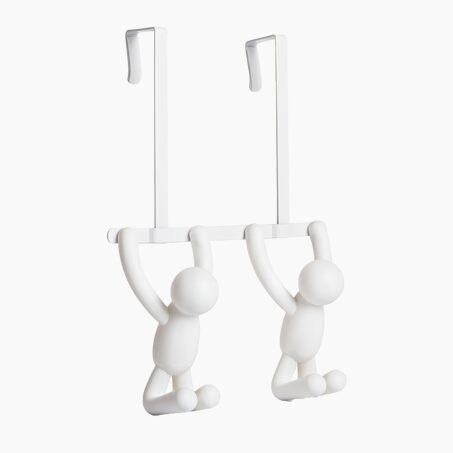 Wall hook BUDDY DOUBLE colour white