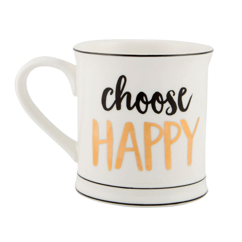 Mug CHOOSE HAPPY coloris blanc