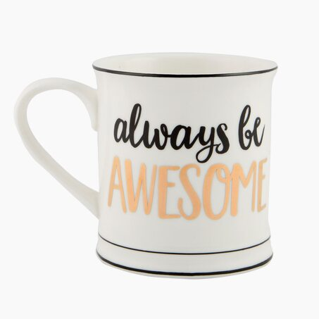 Mug ALWAYS BE AWESOME coloris blanc