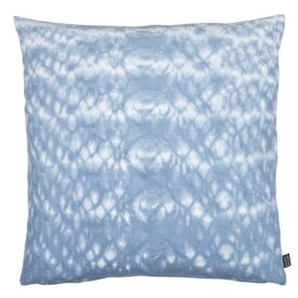 coussin shibori coloris bleu d lav 50 x 50 cm blanc coussin 4murs. Black Bedroom Furniture Sets. Home Design Ideas